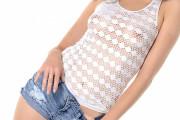 ショートパンツから伸びるトンデモナク長い脚は必見wロシアンスレンダー美女、巨乳輪透け透けエッチな衣装でエロダンス&ディルドオナヌードww # 外人エロ画像